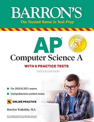 AP Computer Science A With 6 Practice Tests (Barron's Test Prep)  Teukolsky, Roselyn