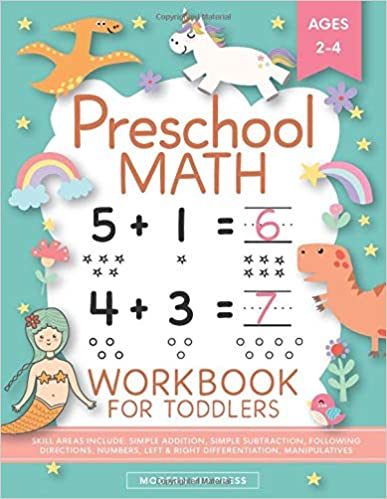 Preschool Math Work for Toddlers Ages 2-4 Beginner Math Preschool Learning  with Number Tracing and Matching Activities for 2, 3 and 4 year olds and kindergarten prep Press, Modern Kid 9781948209885