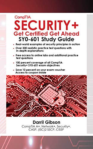 CompTIA Security+ Get Certified Get Ahead SY0-601 Study Guide  Gibson, Darril
