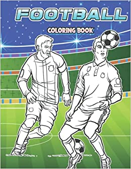 FOOTBALL Coloring Soccer Coloring for Adults kids Boys Girls Perfect Gift for SOCCER LOVERS Different Famous Players Teams To Get into The Spirit of The beautiful Game Minimalist Donuts lovers