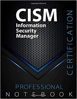 CISM Not Information Security Manager Certification Exam Preparation Not pages CISM examination study writing not Dotted x Glossy cover pages Black Hex CISMstudy Not