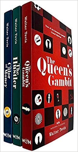 The Queen s Gambit Series Collection Set Walter Tevis The Queen s Gambit The Hustler The Color of Money NETFLIX Walter Tevis The Queen s Gambit By Walter Tevis The Color of Money By Walter Tevis