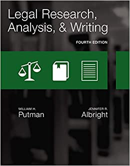 Legal Research Analysis and Writing Putman William H Albright Jennifer Professional Technical