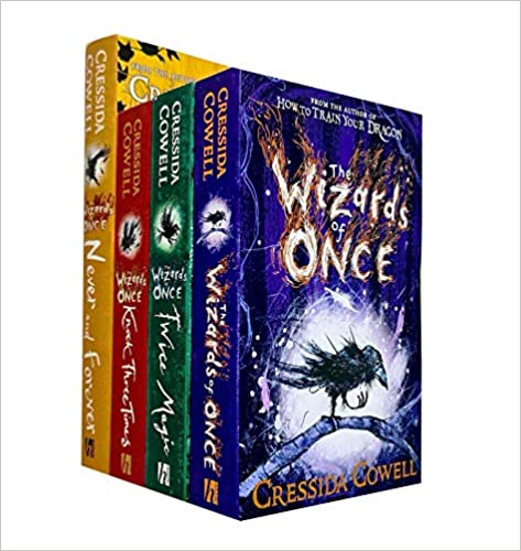 Wizards of Once Series Collection Set By Cressida Cowell The Wizards of Once Twice Magic Knock Three Times Never and Forever Cressida Cowell The Wizards of Once By Cressida Cowell Twice Magic By Cressida Cowell X Never and Forever By Cressida Cowell Knock Three Times By Cressida Cowell